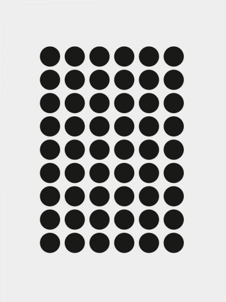 Mini Punkte Wandsticker, schwarz, selbstklebend