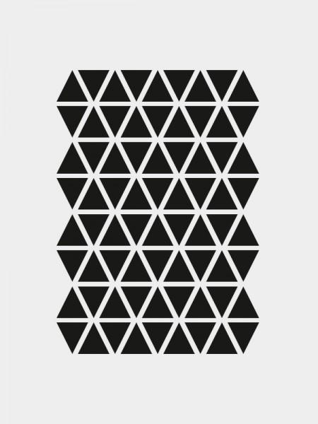 Mini Dreiecke Wandsticker, schwarz, selbstklebend